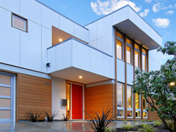 Thumbnail Image of street facade of contemporary, modern new house design by residential architecture firm Donnally Architects in Seattle, Washington