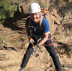 Bruce Donnally canyoneering in Utah