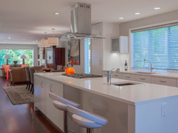 Thumbnail Image of kitchen remodel with modern aesthetic in contemporary house remodel designed by residential architecture firm Donnally Architects in the neighborhood of Magnolia in Seattle, Washington